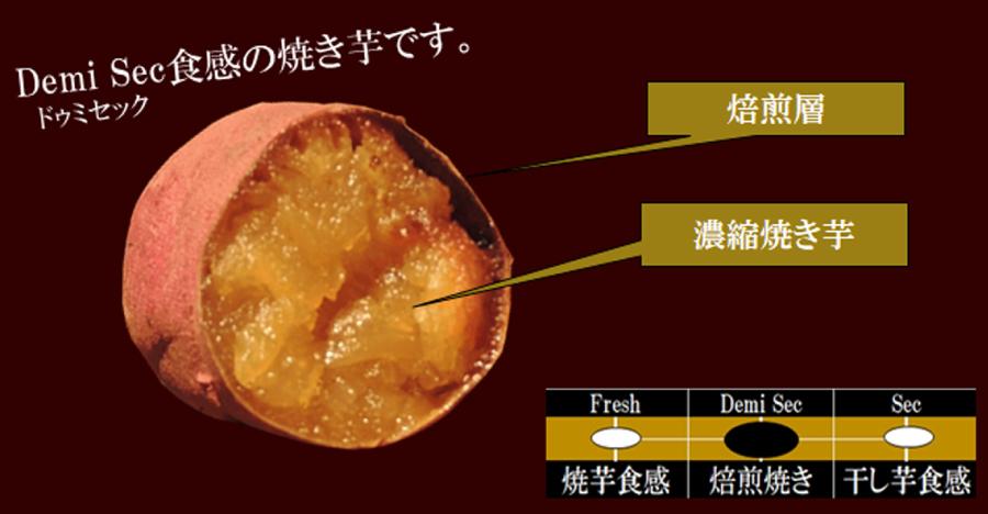 ドゥミセック食感の焼芋です